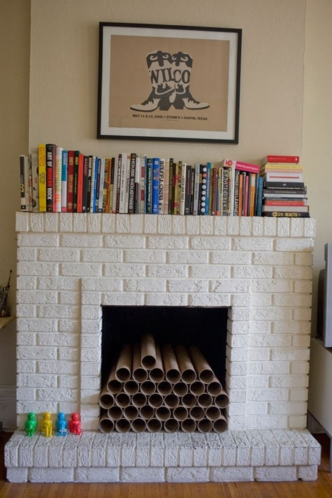 Fireplace interior decor idea
