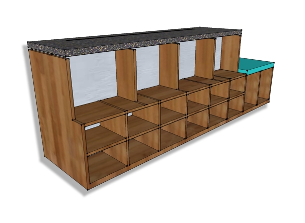 entry shoe bench plans