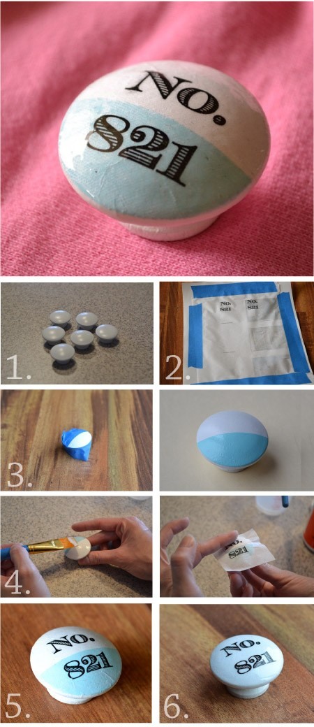 Custom DIY knobs for furniture
