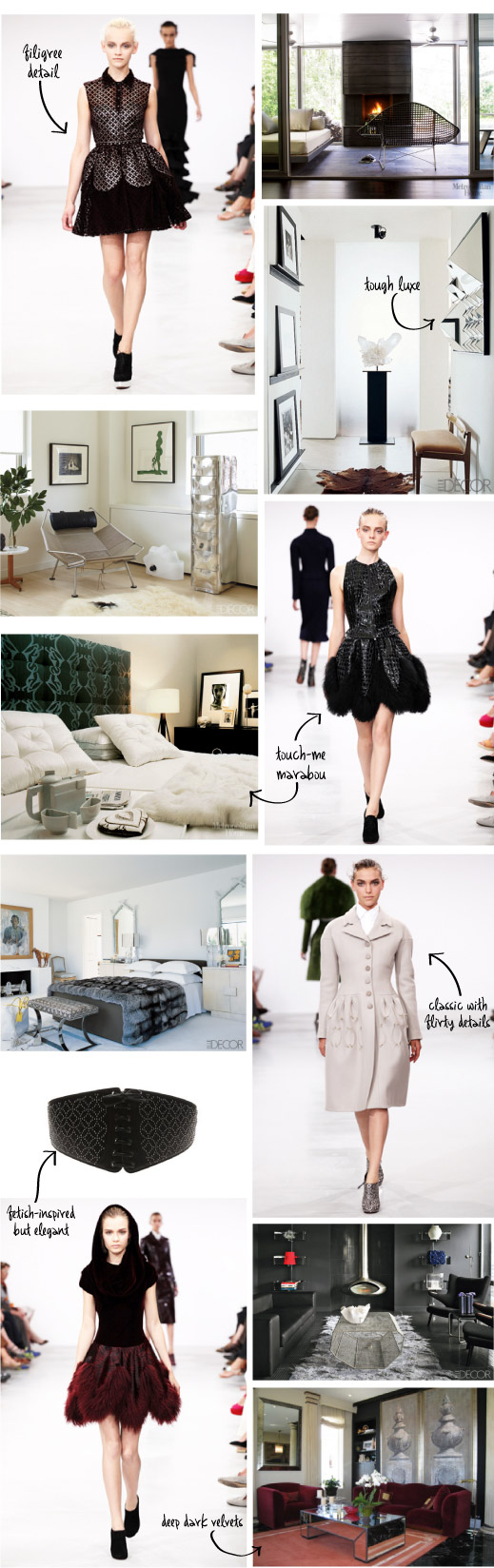 Outfit to Fitout - Dark Luxe fashion and interiors from The Unexpected Chic