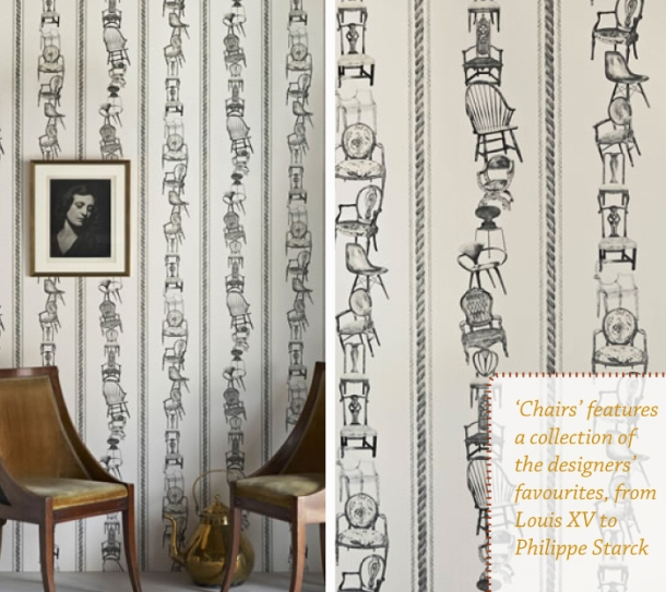 Chairs 02 wallpaper by Barneby Gates featured on The Unexpected Chic