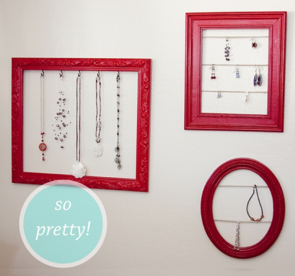 Picture Frame jewellery holder project from Cat on a Limb, featured on The Unexpected Chic