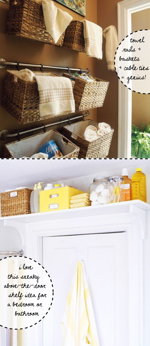 Clever bathroom storage ideas from The Unexpected Chic