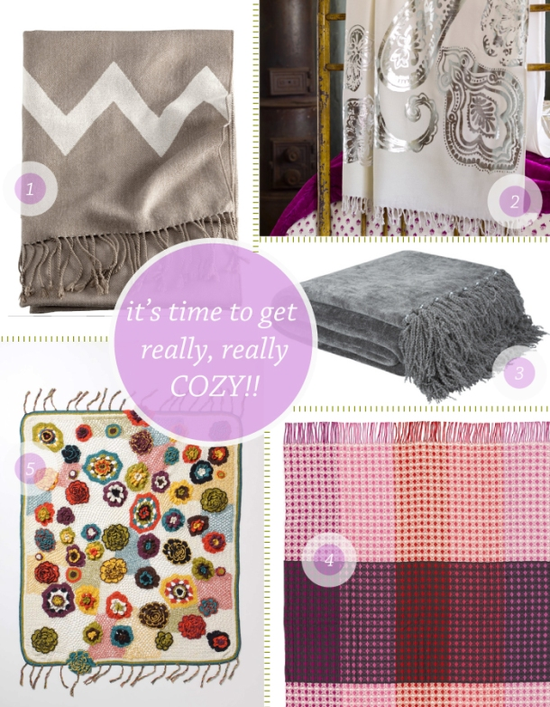 Ten Best throw blankets at The Unexpected Chic