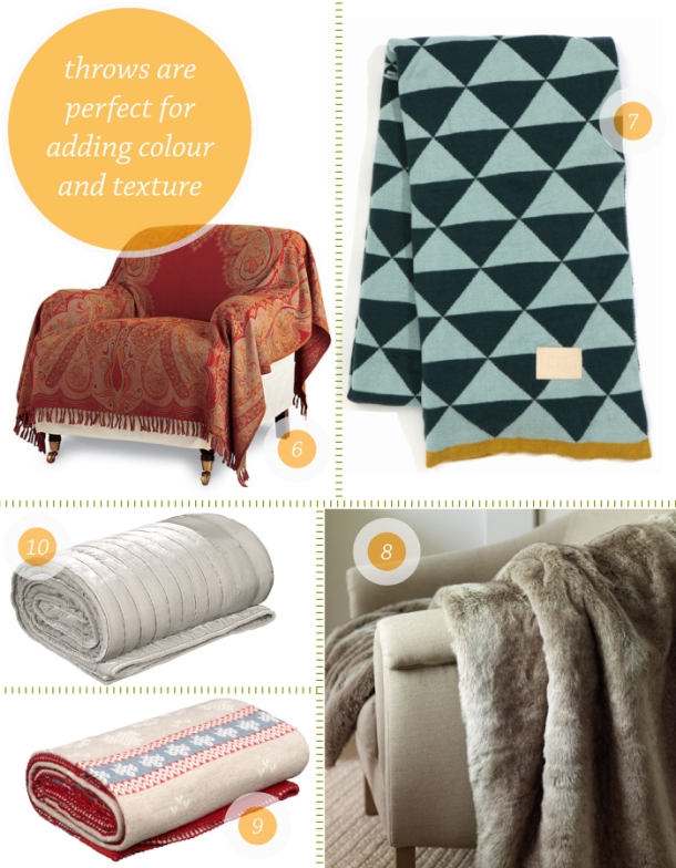Ten Best throw blankets on The Unexpected Chic