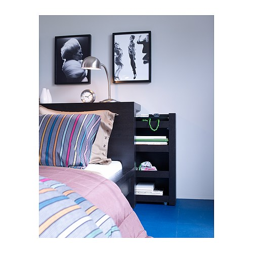 Freshly squeezed the best bed storage ideas the for Ikea malm storage headboard