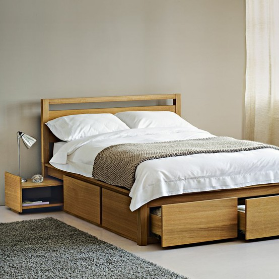 Freshly squeezed the best bed storage ideas the for Bedroom ideas oak bed