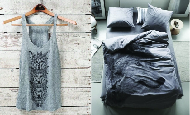 animal trend_wolf tank top and bed-01