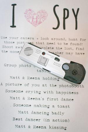 wedding decor disposable camera